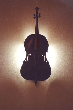 Custom Copper Cello Wall Sconce