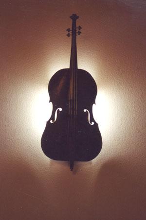 cello sconce lit
