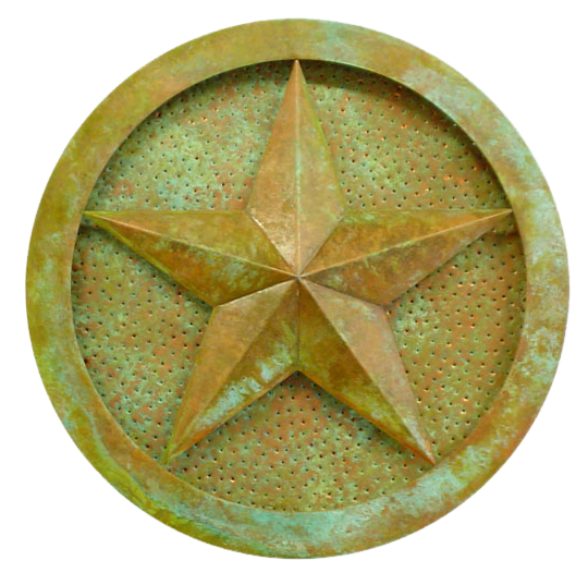 Custom Verdigris Copper Star Sconce
