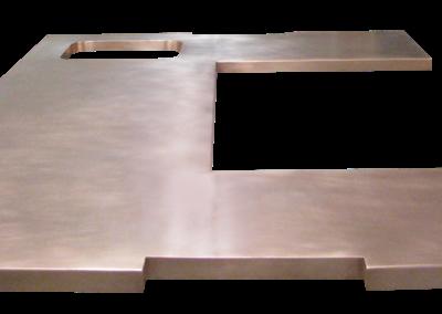 Custom Brass Countertop