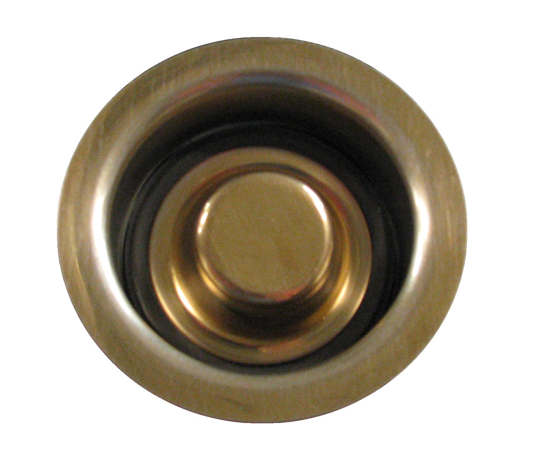 disposal fitting and matching plug, Medium Brass