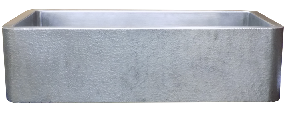 Delightful Single Basin Hammered Apron Farmhouse Sink Stainless Steel