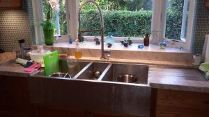 Onsite Photo - triple basin sink with integrated counter