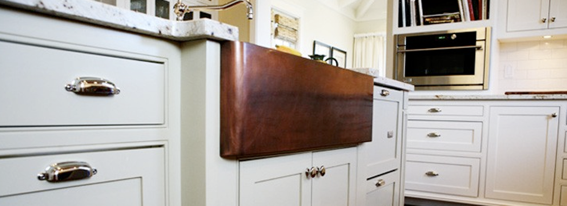 T33 Farmhouse Sink; Smooth Apron; Medium Copper