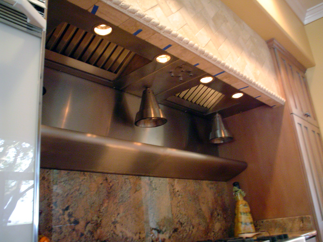 Custom Insert: hanging heat lamps; warming shelf.