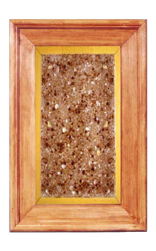 Glass Kitchen Cabinet Panel CPG8: Faux Granite fused glass