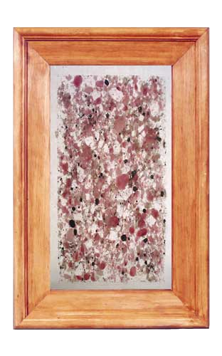 Glass Kitchen Cabinet Panel CPG7: Fused faux pink granite