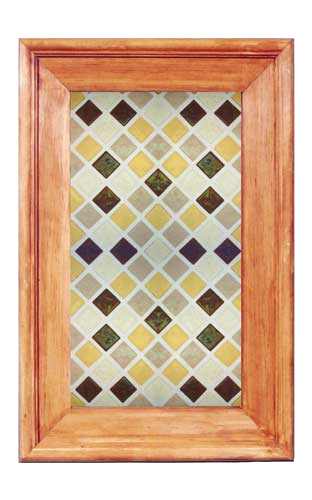 Glass Kitchen Cabinet Panel CPG4: fused glass tiles
