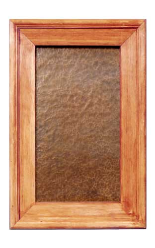 Hammered Copper - CPE2 & Kitchen Cabinet Panel CPE2- Hammered Copper | Texas Lightsmith