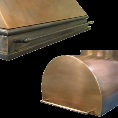 Custom Pot Rails | copper and brass