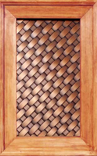 Copper lattice weave Kitchen Cabinet Panel CPB2
