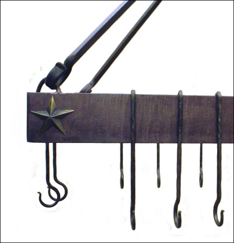 Forged Iron Pot Rack #2 close-up
