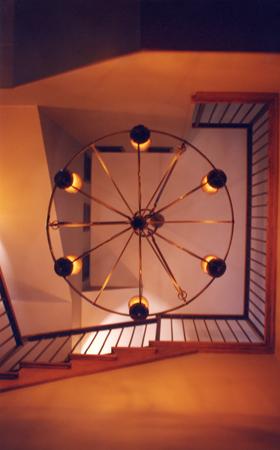 Wagon Wheel Chandelier - bottom view