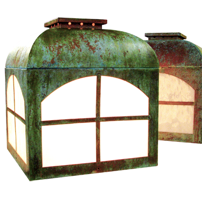 ABGL-5 verdigris post lantern