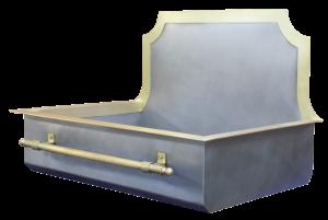 Constantine Vanity Sink with Flange, Backsplash and Brass Towel Bar