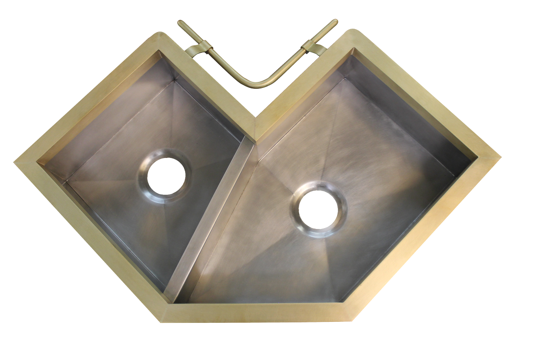 Constantine double basin corner sink