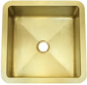 T15 Burnished Brass Sink with 2 in drain.