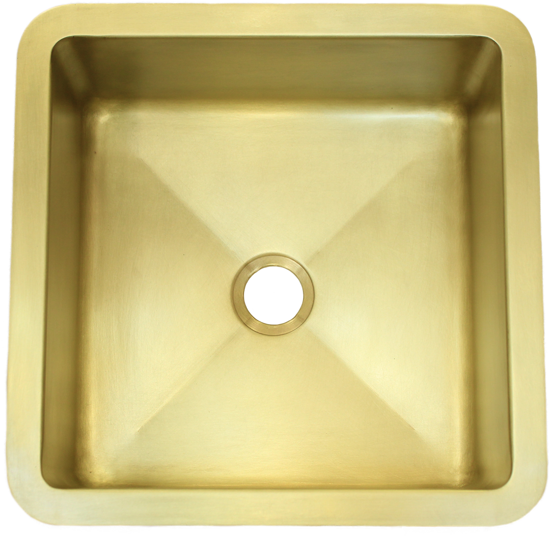 T15 Burnished Brass Sink with 2 in drain