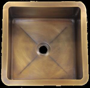 """T15 Medium Brass Sink with 2"""" drain"""