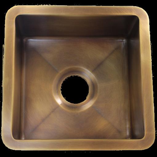 """T15 Medium Brass Sink with 3.5"""" drain"""