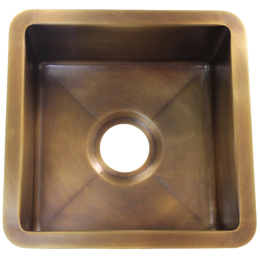 Bar Sink, shown in Medium Brass and a 3.5 in drain.