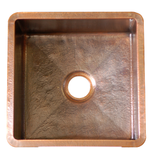T15 hammered copper bar sink