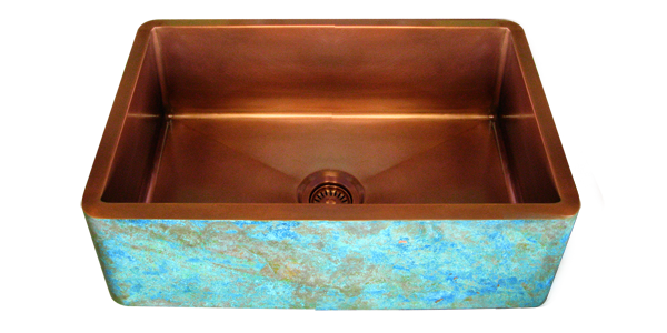 Verdigris Apron Copper Sink