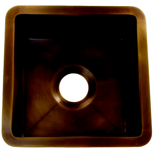 """T15 Dark Brass Sink with 3.5"""" drain"""