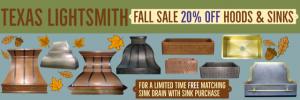 Fall Sale - 20% off Classic line Hoods & Sinks