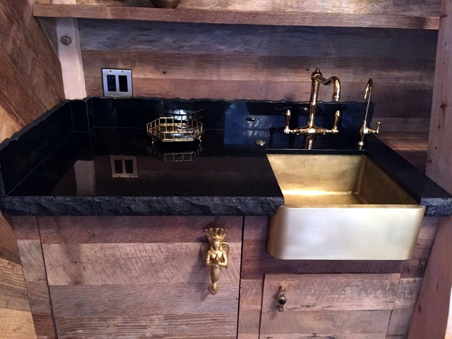 T15 Brass Apron Sink for temple