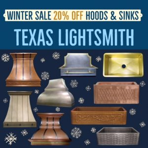 Winter Sale - 20% Off hoods & sinks!