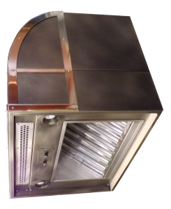 range hood with built-in makeup air register