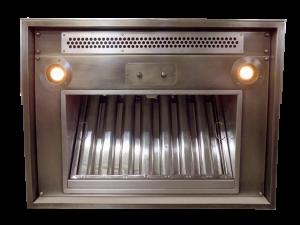 range hood with built-in makeup air register