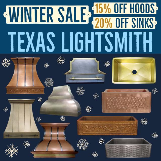 Winter Sale! 15% Off Hoods & 20% Off Sinks