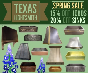 Spring Sale! 15% Off Hoods & 20% Off Sinks