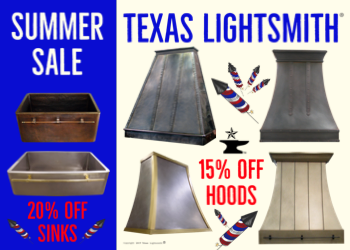 Summer Sale! 15% Off Hoods & 20% Off Sinks