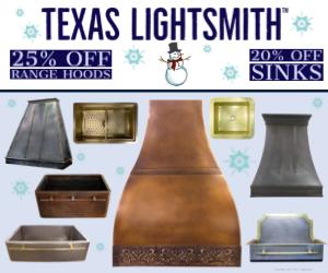 Winter Sale – 25% off Hood/20% Off Sinks