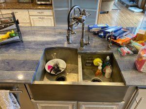 Medium Nickel Silver apron sink