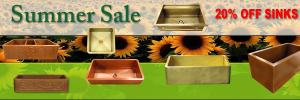 Summer Sale – 20% Off Sinks