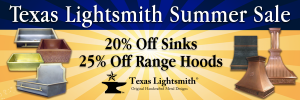 Summer Sale – 20% Off Sinks. 25% Off Hoods