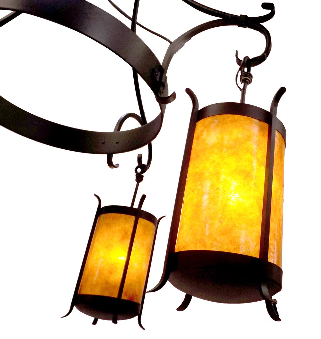 Custom Chandelier #28 detail showing lantern