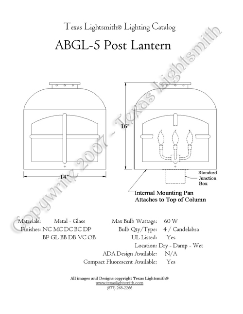 ABGL-5 spec drawing