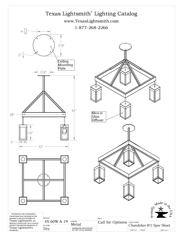 Chandelier #11 Spec Drawing