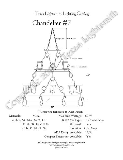 Chandelier 7 - Spec Drawing