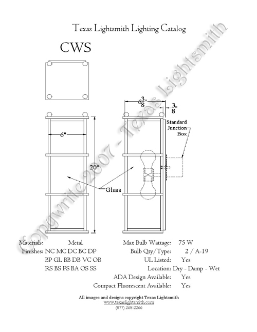 CWS spec drawing