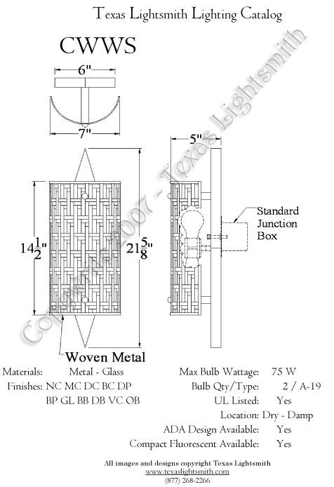 CWWS  spec drawing