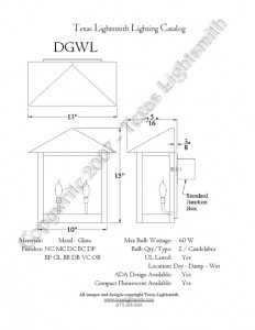 DGWL Spec Drawing