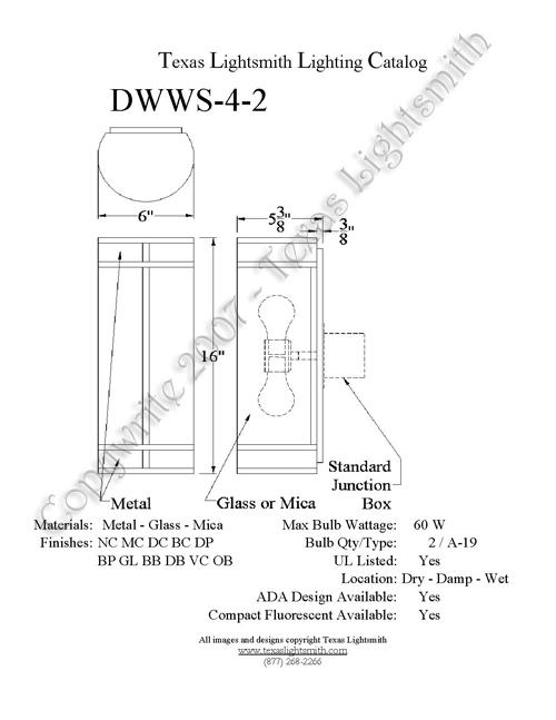 DWWS-4-2 Spec Drawing