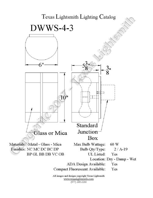 DWWS-4-3 Spec Drawing