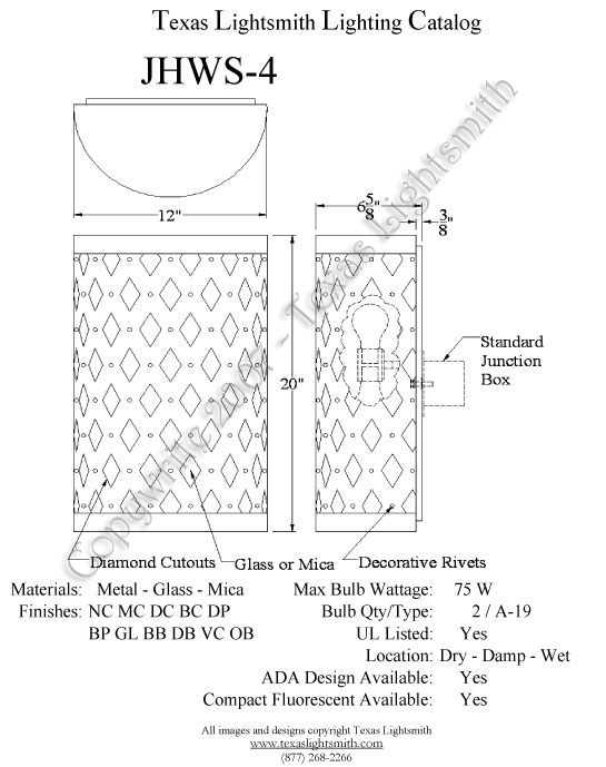 JHWS-4 Spec Drawing